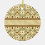 Gold & Ruby Wallpaper Christmas Tree Ornaments