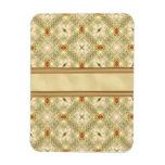 Gold & Ruby Wallpaper Rectangle Magnet