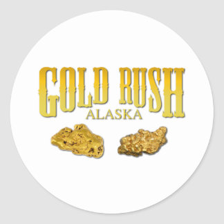 Gold Rush Classic Round Sticker