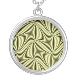 Gold Rush Hologram Fractal Necklaces
