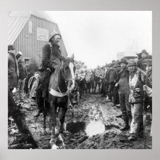 Gold Rush in Alaska, 1890s Poster