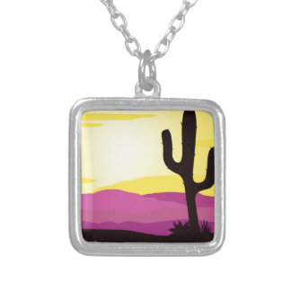 Gold rush : Mexicana gold Sunset II Silver Plated Necklace