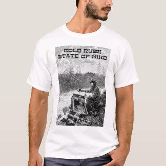 Gold Rush State of Mind Basic T-Shirt, White T-Shirt