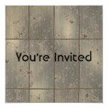 """Gold Rust 5.25"""" Square Invitation Card"""