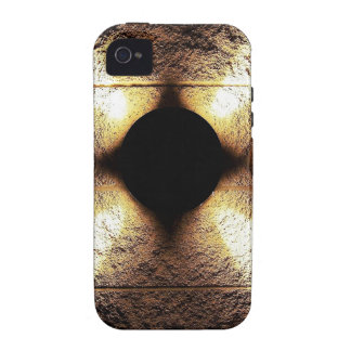 Gold rusty brown art burn smoke Abstract Antique J Vibe iPhone 4 Cases