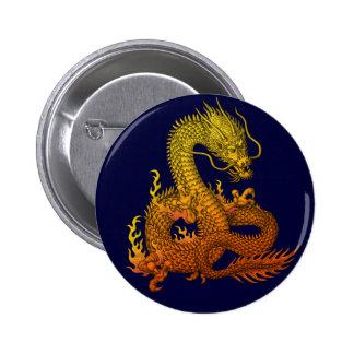 Gold ryuu pinback button