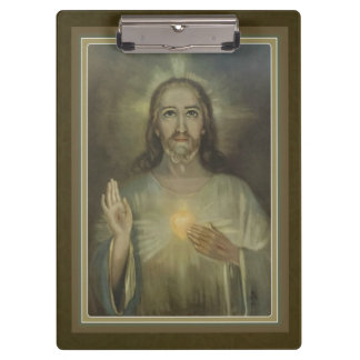 Gold Sacred Heart of Jesus Clipboard