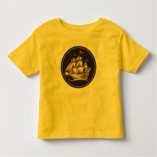 Gold Sailboat Nautical Toddler T-shirt