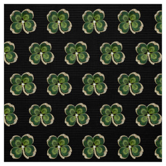 Gold Saint Patrick Shamrock Jewel with Pearls Fabric