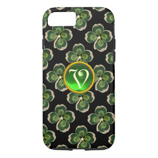 Gold Saint Patrick Shamrock Jewel with Pearls iPhone 7 Case