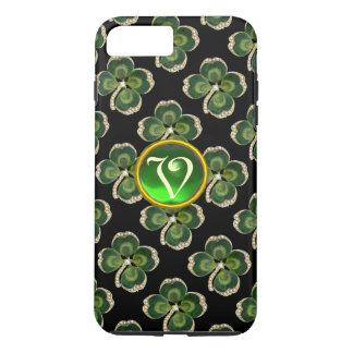 Gold Saint Patrick Shamrock Jewel with Pearls iPhone 7 Plus Case