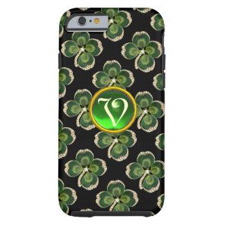 Gold Saint Patrick Shamrock Jewel with Pearls Tough iPhone 6 Case