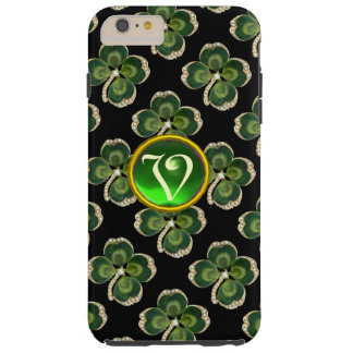 Gold Saint Patrick Shamrock Jewel with Pearls Tough iPhone 6 Plus Case