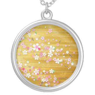 Gold Sakura Kimono - Japanese Design Necklace