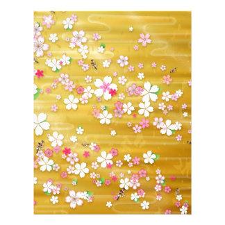Gold Sakura Kimono Letterhead