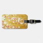 Gold Sakura Kimono Tags For Luggage