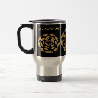 Gold Salmon Fish Man Coffee Mug