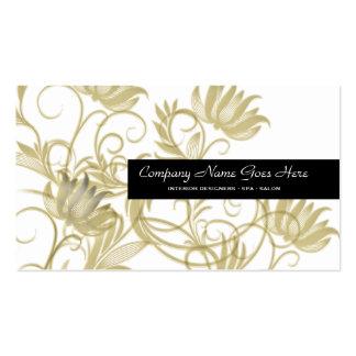 Gold salon spa black business card templates