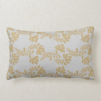 Gold Salt Tulip Throw Pillow
