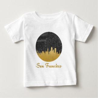 Gold San Francisco City Skyline Map Baby T-Shirt
