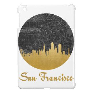 Gold San Francisco City Skyline Map iPad Mini Covers