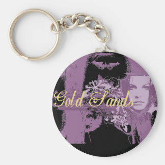 Gold Sands Girl T-shirts and Gifts Keychain