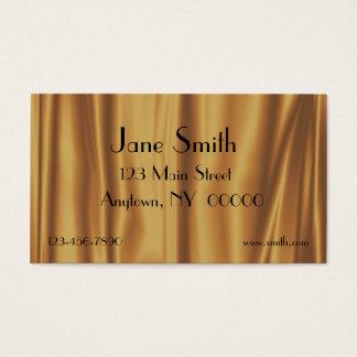 Gold Satin Folds Business Card