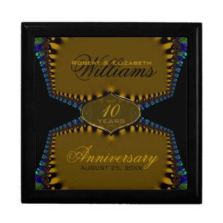 Gold Satin Lace Wedding Anniversary Gift Box