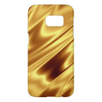 Gold Satin Samsung Galaxy S7 Phone Case