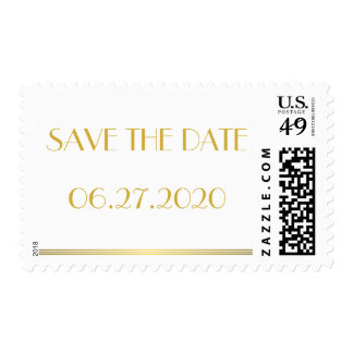 Gold Save The Date Great Gatsby Wedding Stamps
