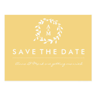 Gold Save the Date Postcard