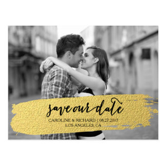 GOLD | SAVE THE DATE POSTCARD