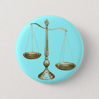 gold scales of justice button