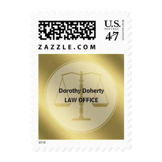 Gold Scales of Justice | Stylish Lawyer Gift Stamp