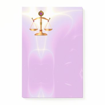 Lawyer Themed GOLD SCALES OF LAW Justice ,Ultra Violet Pink Post-it Notes