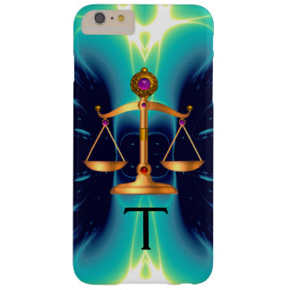 GOLD SCALES OF LAW WITH GEM STONES MONOGRAM BARELY THERE iPhone 6 PLUS CASE