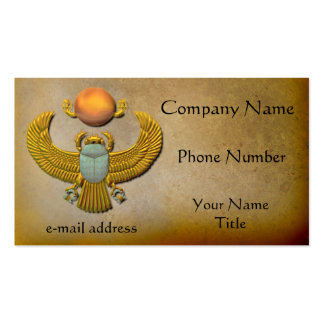 Gold Scarab Business Card Template