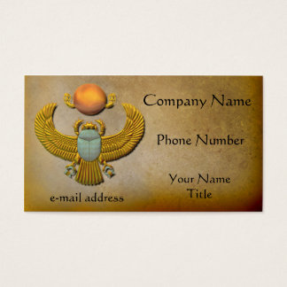 Gold Scarab Business Card