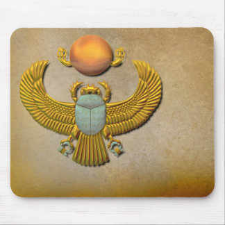 Gold Scarab Mouse Pad