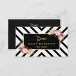 """Gold Scissors Floral Hair Stylist Beauty Salon Business Card<br><div class=""""desc"""">Make a great impression with this stylish &quot;Gold Scissors Floral Hair Stylist Beauty Salon&quot; Business Card. Create yours today! (1) For further customization, please click the &quot;Customize&quot; button and use our design tool to modify this template. All text style, colors, sizes can be modified to fit your needs. (2) If...</div>"""