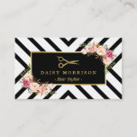 """Gold Scissors Floral Hair Stylist Beauty Salon Business Card<br><div class=""""desc"""">Make a great impression with this stylish &quot;Gold Scissors Floral Hair Stylist Beauty Salon&quot; Business Card. Create yours today! (1) For further customization, please click the &quot;Customize Further&quot; Link and use our design tool to modify this template. All text style, colors, sizes can be modified to fit your needs. (2)...</div>"""