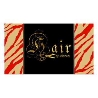 Gold Scissors Script Hair Stylist Appointment #11 Business Card
