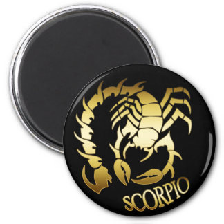 GOLD SCORPIO FRIDGE MAGNET