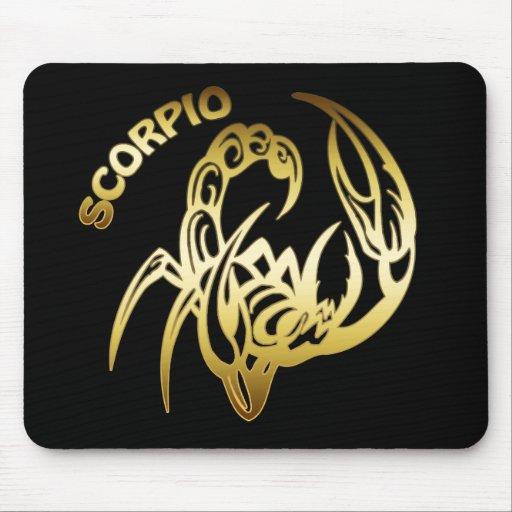 GOLD SCORPIO MOUSE PAD