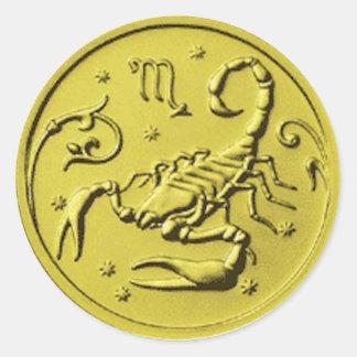 Gold Scorpio Scorpion Stickers