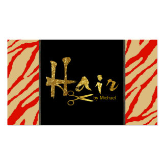 Gold Script Hair Stylist Salon Appointment #10 Business Card