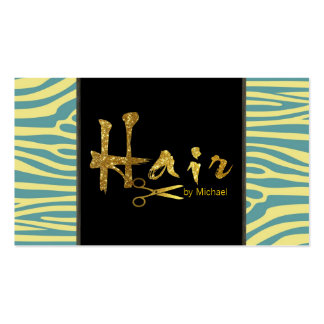 Gold Script Hair Stylist Salon Appointment #4 Business Card