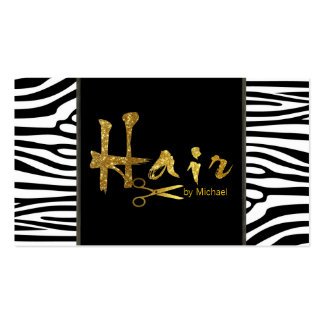 Gold Script Hair Stylist Salon Appointment Business Card