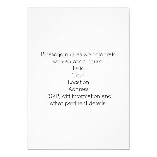 Gold Script Photo Collage High School Graduation 5x7 Paper Invitation Card (back side)