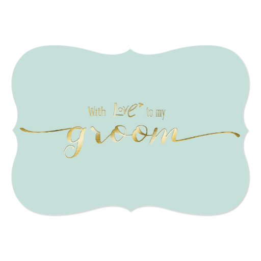 Gold Script With Love To...